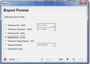 Excel Export from Template Menu_Step 1