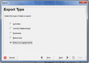 Excel Export from Template Menu_Step 2